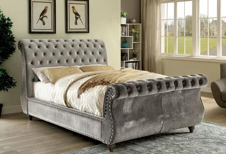 Furniture of America CM7128GYQBED Noella Series  Queen Size Bed
