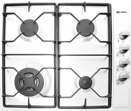 Verona VECTG424SW  Gas Sealed Burner Style Cooktop, in White