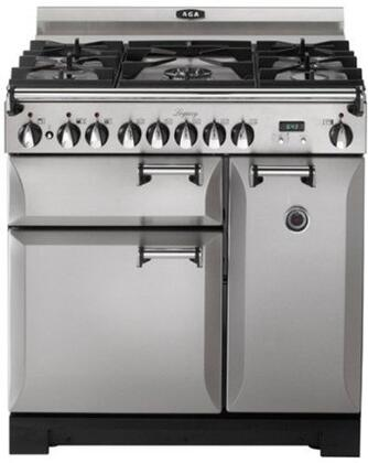 """AGA ALEGS36DFSS 36"""" Legacy Series Dual Fuel Freestanding Range with Sealed Burner Cooktop, 2.2 cu. ft. Primary Oven Capacity,"""