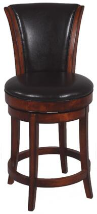 Chintaly 0239BS Residential Bonded Leather Upholstered Bar Stool