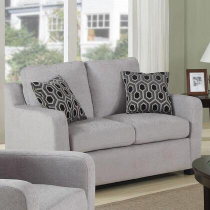Coaster 504032 Charlotte Series Fabric Stationary with Wood Frame Loveseat