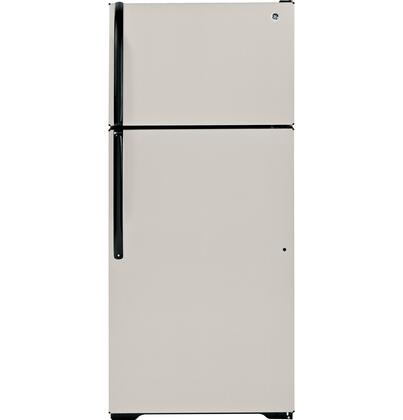GE GTJ18GCDSA Freestanding Top Freezer Refrigerator with 18.1 cu. ft. Total Capacity 2 Glass Shelves 4.22 cu. ft. Freezer Capacity