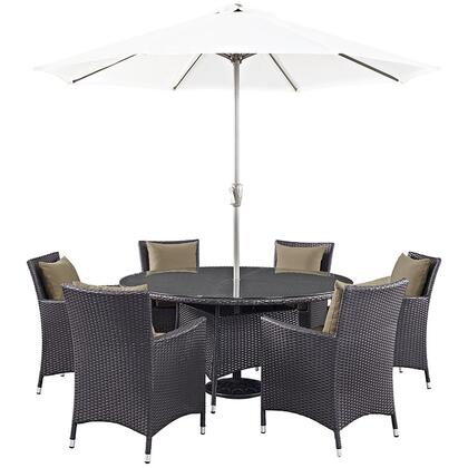 Modway EEI2194EXPMOCSET Round Shape Patio Sets