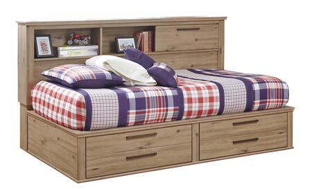 Signature Design by Ashley B298STORAGEBED Dexifield Collection x Size Bed with Storage Headboard, Footboard and Rails in Dry Brown