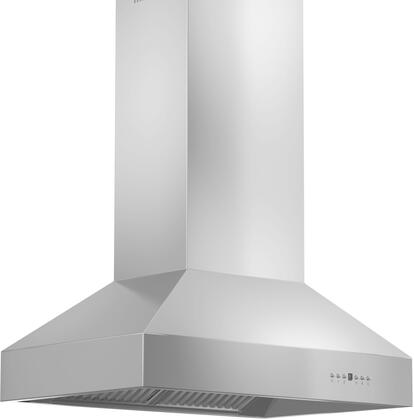 Z Line 697i304x Island Range Hood With x Directional Halogen Lights, Speed/Timer Panel With LCD, and Stainless Steel Baffle Filters in