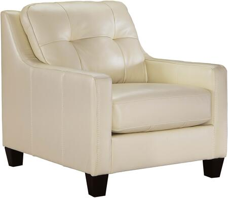 """Milo Italia Regina MI-5733BTMP 35"""" Chair with Tufted Back Cushion, Leather Match Upholstery and Sleek Track Arms in"""