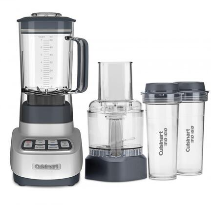 Cuisinart BFP650x Velocity Ultra Trio 1 HP Blender/Food Processor With Travel Cups, 56 Oz. BPA-free Tritan Plastic Jar, Two 16 Oz. Travel Cups, Preprogrammed Smoothie and Ice Crush Functions, Electronic Controls, LED Indicators, in