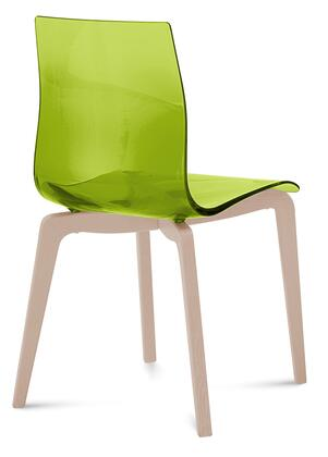 Domitalia GELSLSFFRSSVE Gel Series Transitional Wood Frame Dining Room Chair