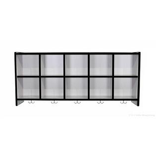 Mahar N10Wall 10 Compartment Wall Mount Locker in Gray Finish with Edge Color