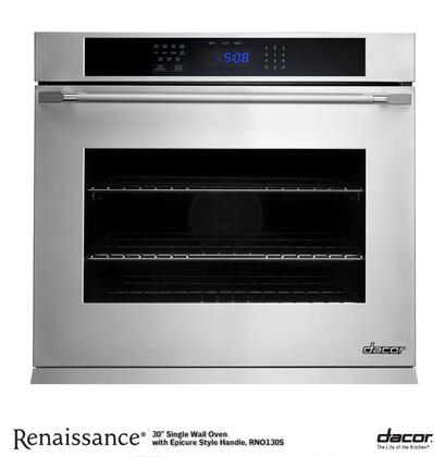 """Dacor Renaissance RNO127 30"""" Electric Convection Self-Cleaning Single Wall Oven with 4.5 cu. ft. Capacity, SoftShut Hinges, and 2 GlideRacks in:"""
