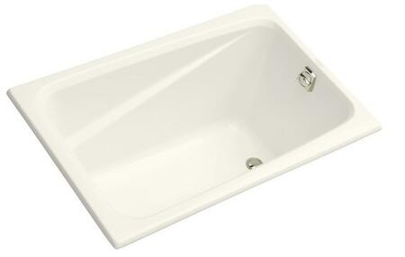 "Kohler K-1490-X- Greek Collection 48"" Drop In Soaking Bath Tub with Reversible Drain:"