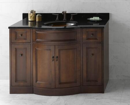 "Ronbow 060648- Marcello 48"" Wood Vanity Cabinet with Double Wood Doors and Four Drawers: Cafe Walnut"