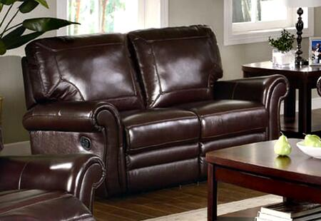 Coaster 602922 Leather Reclining with Wood Frame Loveseat