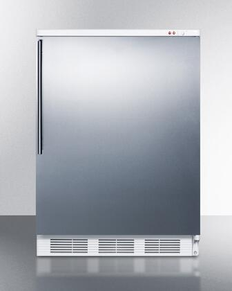"""Summit VT65M7SSHV 24""""  Counter Depth Freezer with 3.5 cu. ft. Capacity in Stainless STeel"""