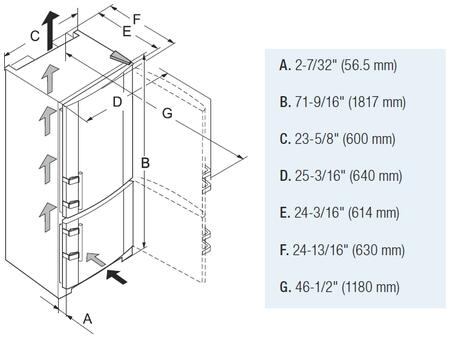Cabinet Opening Dimensions Diagram