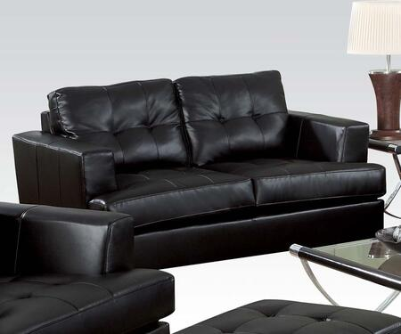 Acme Furniture 15091 Platinum Series Bonded Leather Stationary with Wood Frame Loveseat