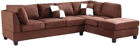 Glory Furniture G632BSC G630 Series Stationary Suede Sofa