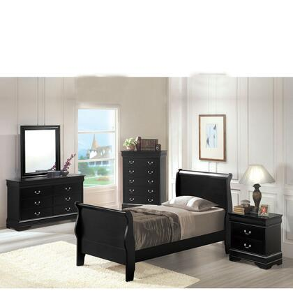 Acme Furniture 00420AT Louis Philippe Series  Twin Size Sleigh Bed
