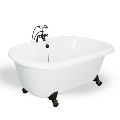 American Bath Factory T070B- Melinda Bathtub With Faucet, Waste & Overflow Included, Chip and Wear Resistant: