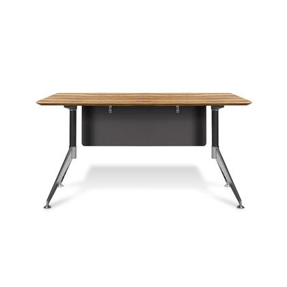 "Unique Furniture 400 Collection 55"" Computer Desk with Steel Base, Wire Management, Non Scratch Surface, Commercial Grade and High Pressure Melamine Material in"