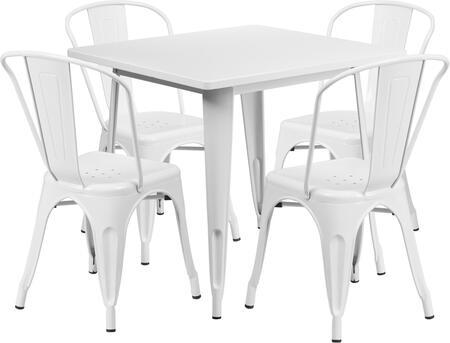 Flash Furniture ETCT002430WHGG Square Shape Patio Sets