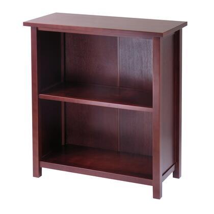 Winsome 94X38 Milan Storage Shelf or Bookcase, 3-Tier, Medium in Antique Walnut