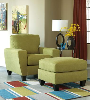 Milo Italia Nelson MI-3906ATMP Ottoman with Subtly Textured Microfiber Upholstery, Plush Seat Cushion and Tapered Legs in