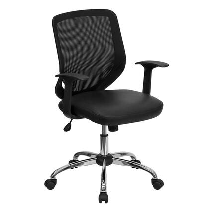 """Flash Furniture LFW95LEABKGG 24.5"""" Contemporary Office Chair"""