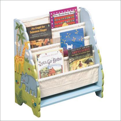 Guidecraft G83200 Safari Series Wood 5 Shelves Bookcase