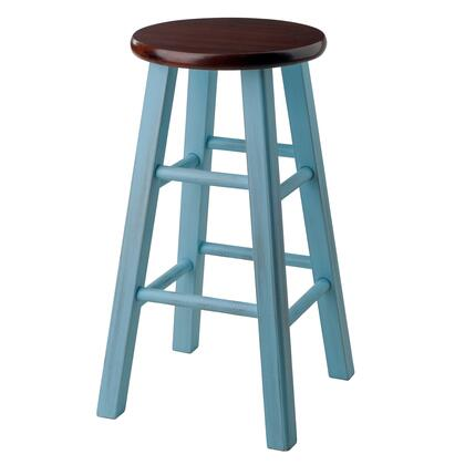 Winsome Ivy Collection 6X2XXSTOOL X Bar Stool in Walnut and
