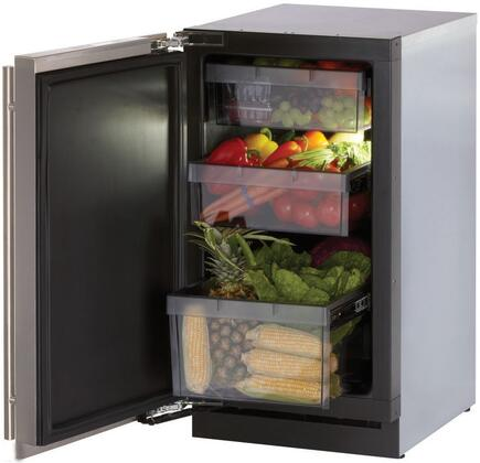 """U-Line 3018RFS Modular 3000 Series 18"""" 3.4 cu. ft. Refrigerator With Front Adjustable Rear Leveling Legs, All Drawer Bins Are Removable For Easy Cleaning & Digitally Controlled Convection Cooling Sy"""