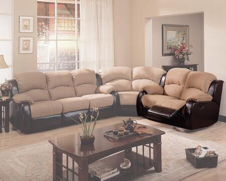Coaster 600361L  Reclining with Wood Frame Loveseat