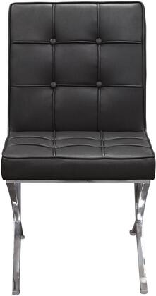 Diamond Sofa CORDOBADCBL Cordoba Series Contemporary Bonded Leather Metal Frame Dining Room Chair