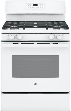 "GE JGB645DEK 30"" Freestanding Gas Range with 5 Cu. Ft. Oven Capacity, Precise Simmer Burner, Electronic Touchpad, Self-Clean Oven, 4 Sealed Burners, and Sabbath Mode:"
