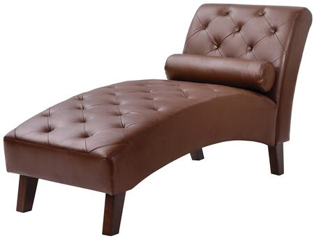 Glory Furniture G223CHS Newbury Series Contemporary Faux Leather Wood Frame Chaise Lounge