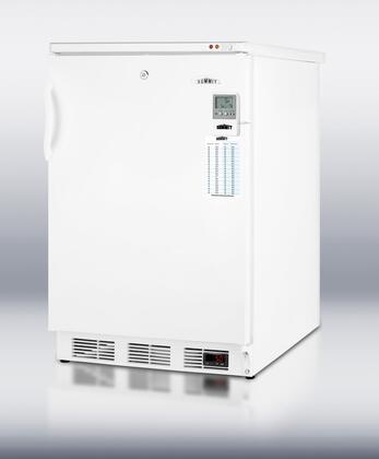 "Summit VT65MLBIMEDDT24"" Medical Series Freestanding Upright Counter Depth Freezer"