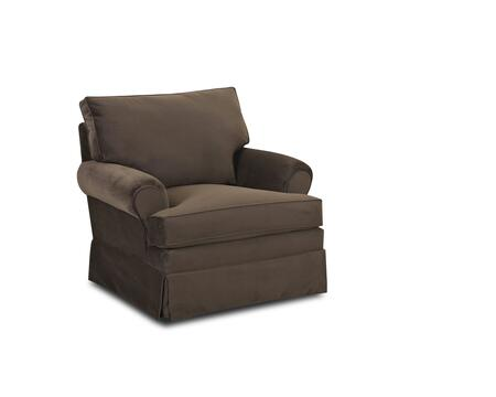 "Klaussner Carolina Collection 750-C- 39"" Chair with Rolled Arms, Welt Tailoring and Polyester Fabric Upholstery in"