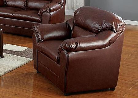 Acme Furniture 15152 Connell Series Leather Match with Wood Frame in Brown