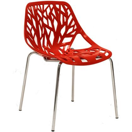 Modway EEI651RED Stencil Series Dining Not Upholstered Metal Frame Accent Chair