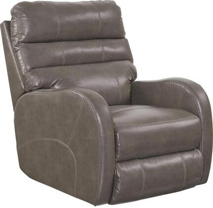 "Catnapper Searcy Collection 32"" Recliner with Radius Arm Design, Triple Pub Back, Coil Seating System, Double-Needle Stitching and Faux Leather Polyurethane Fabric Upholstery"