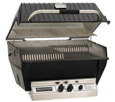 "Broilmaster P3xx 27"" Built-In Grill with 695 sq. in. Cooking Surface, 40000 BTU Total Output, 2 Bowtie Burners, Warming Rack, and Aluminum Construction, in Black"