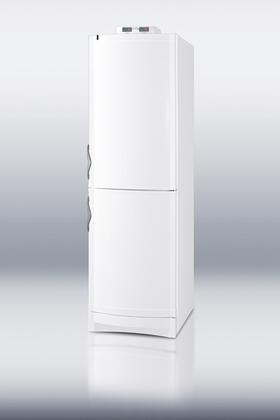 "Summit CP171MED 24"" Medical Series Bottom Freezer Refrigerator with 10.6 cu.ft. Capacity in White"