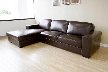 Wholesale Interiors 3022A713SOFACHAISEBROWNREVERSE  Sofa