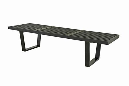 Fine Mod Imports FMI115260BLACK Accent Armless Steel Not Upholstered Bench
