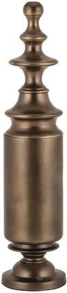 "Sterling Finial Collection 4"" Round Finial with Footed, Round Base, Lathe-Turned Design and Aluminum Material in Warm Antiqued Gold Finish"