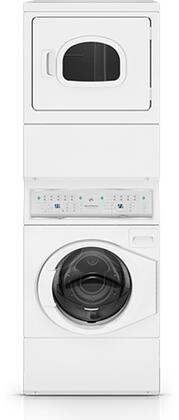 Speed Queen ATEE9AGP Stacked Washer/Dryer with 9 Washer Cycles, 7 Dryer Cycles, Interior Light and Reversible Door in White
