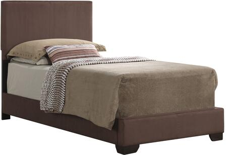 Glory Furniture Twin Size Bed with Low Profile and Microfiber Upholstery in