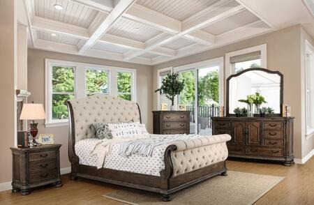 Furniture of America CM7663QBEDSET Lysandra Queen Bedroom Se