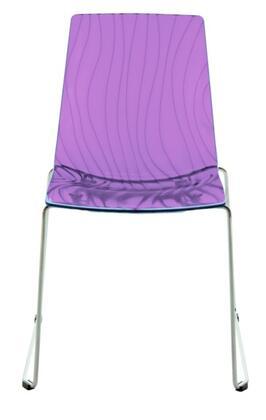 VIG Furniture VGIGCALIMAPUR Modrest Calmia Series Modern Not Upholstered Metal Frame Dining Room Chair