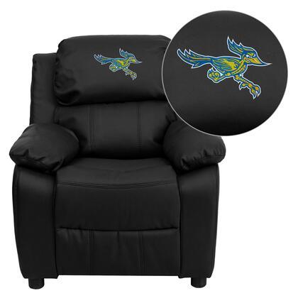 Flash Furniture BT7985KIDBKLEA41013EMBGG Childrens Bonded Leather Wood Frame  Recliners